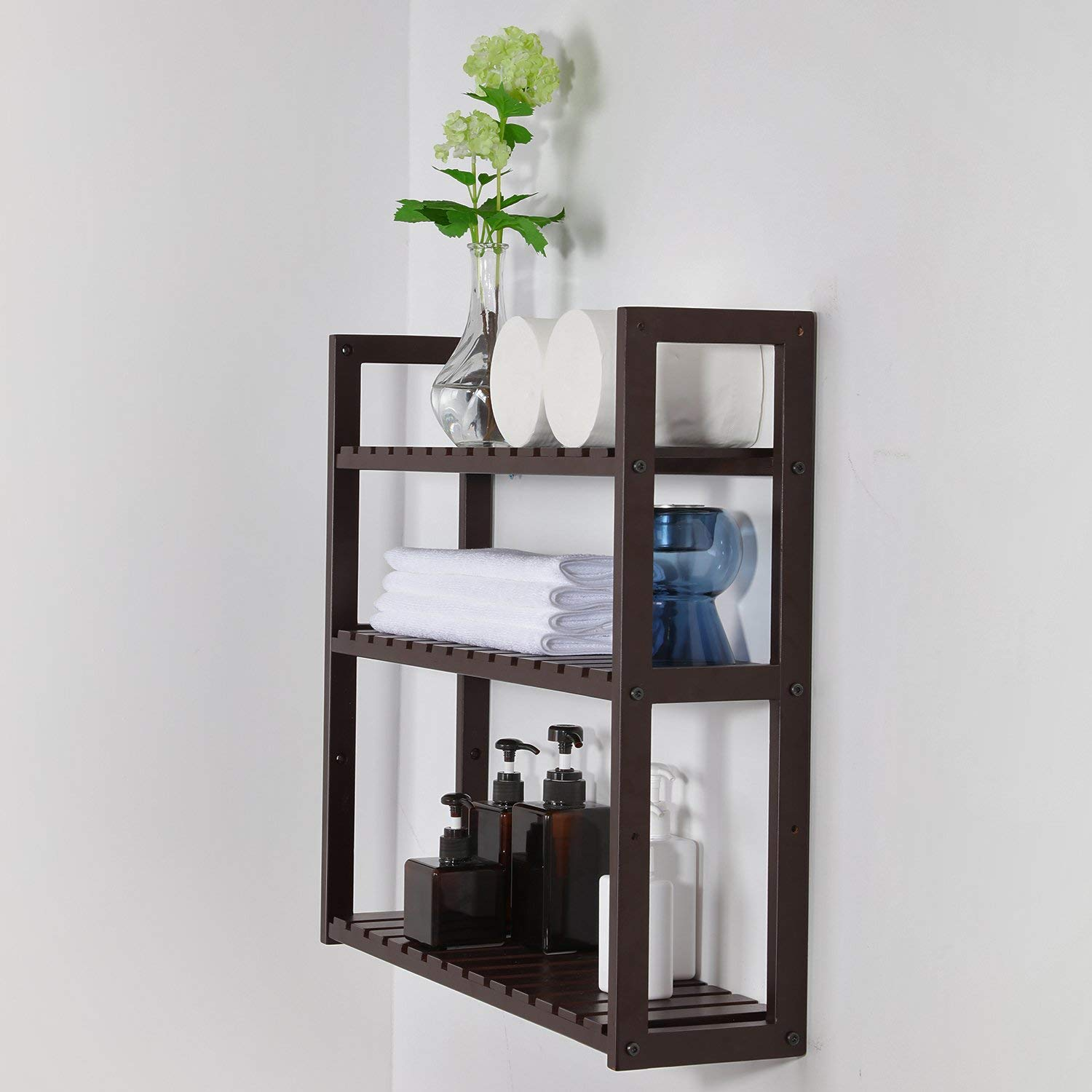 SONGMICS 3-Tier Small Utility Storage Shelf Rack
