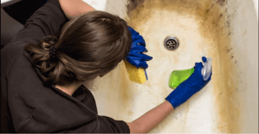 How to Clean a Very Dirty Tub Surround